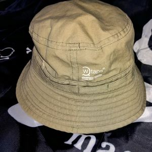 WTAPS,Head Minder Bucket Hat.Khaki Cat. Figuration